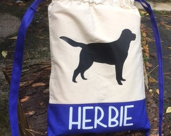 Custom Drawstring Bag for that pet lover in your life!