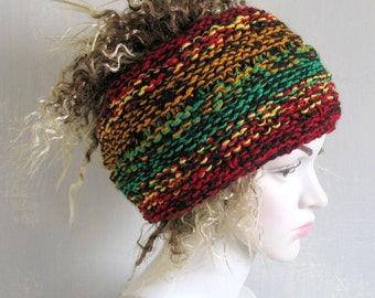Knit Dreadlocks accessory Mens dreadlock tube hat Womens Hat plain hair wrap, dread band tube hat Hair Accessories Wrap