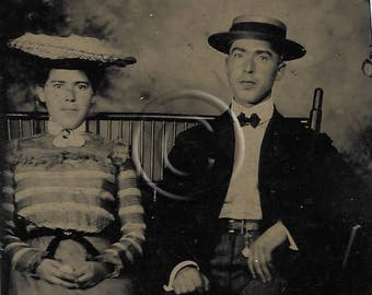 Tintype Photograph Courting couple