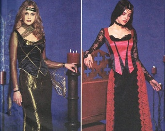Simplicity 9255 Gothic Medieval Renaissance Dress Costume Sewing Pattern UNCUT Size 6, 8, 10 and 12