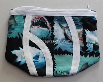 shark from jaws theme underwear zipper purse