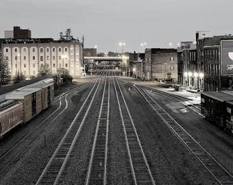Industrial photography, urban photography, city photography, railroad, railroad tracks, downtown photography, Knoxville, Norfolk Southern