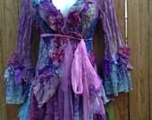 "20%OFFplusFREE SHIPPING bohemian boho lagenlook jacket gypsy crochet top ....work of art!! medium to 40"" bust...."