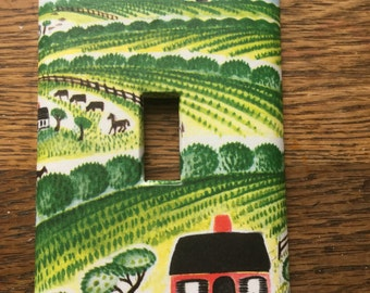 The Little House Upcycled /Recycled Light Switch Plate