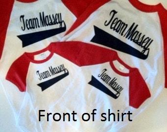 Baseball shirts for the family.  FOUR shirts  Personalized, Customized Birthday Family Shirts; Baseball Birthday shirts