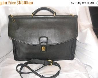 Savings For You Coach Bonnie Cashin Beekman Briefcase Bag Black Portfolio Tote XLARGE  Great Condition Unisex