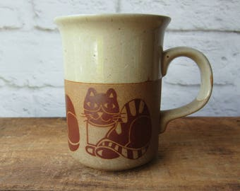 Vintage Stonewarer Cat  Mug