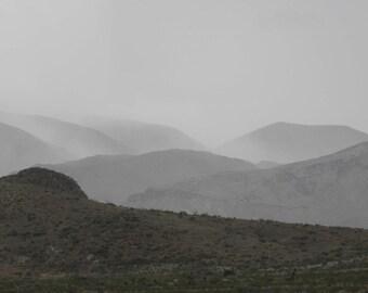 Rain upon the Desert Hills - downpour to be exact