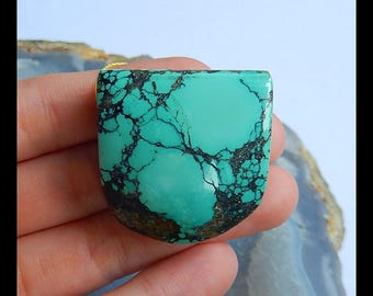 Turquoise Gemstone Pendant Bead,32x31x13mm,25.9g(b0653)