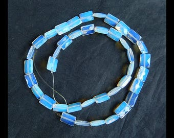 SALE ! Faceted Pendant,Opalite Gemstone Necklace,1 Strand,40cm In the Lenght,10x7x4mm,15.8g(d0253)