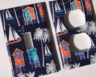Nautical Single Light Switch Plate Cover / Nautical Bedroom Decor / Nautical Nursery Decor / Beach Decor / Beach Bathroom Decor/ Crab Shack