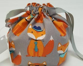Cake Square Bottom bag in Foxy