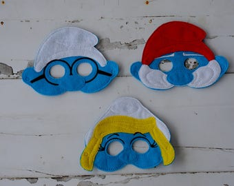 Smurf Inspired Masks