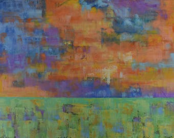 Abstract Landscape Painting...Oil Painting Landscape...Large Art 30 x 48