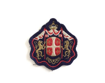Vintage Royal Lion Embroidered Iron on Patch