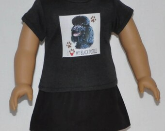 Black Poodle Skirt Set Doll Clothes Made To Fit 18 Inch American Girl