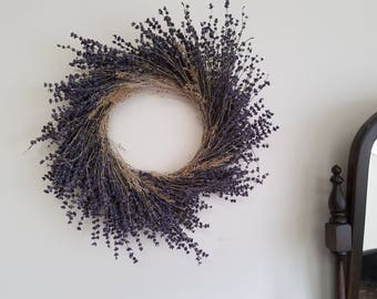 Medium Dried Lavender and Sage Wreath
