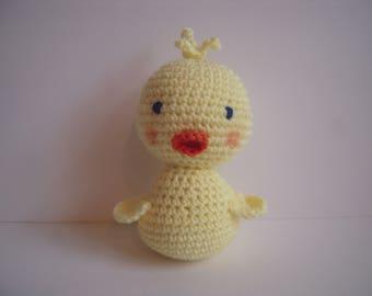 Crocheted Stuffed Amigurumi Baby Duck/Duckling