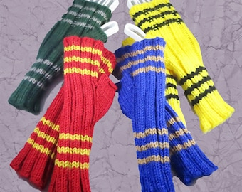 Harry Potter Inspired Hogwarts House Wrist Warmers Washable