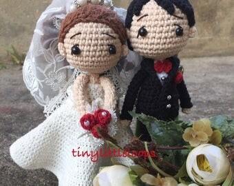 Bride and Groom Crochet doll, Wedding doll, Wedding gift, Amigurumi doll, Crochet doll, Cute crochet doll, Crochet Keychain