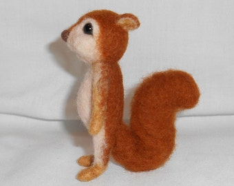 Little Needle Felted Red Squirrel - Ralph - Free Shipping to US and Canada