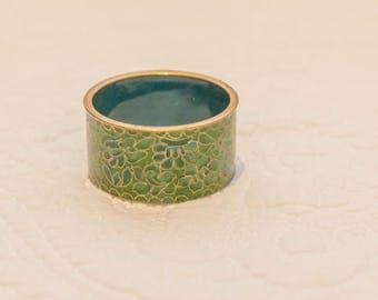 Vintage Cloisonne Napkin Ring, Perfect Condition