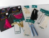 Lot of New Tassels- New in Packages  - YARD SALE - Destash - Ready to Ship