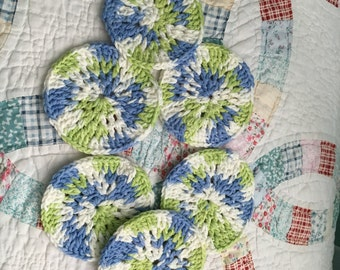 NEW Crocheted Coasters, set of 6