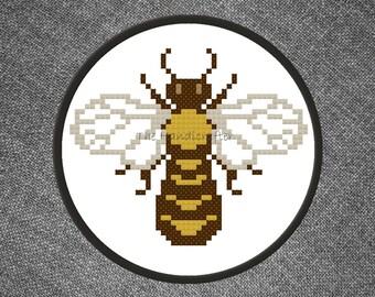 Honey Bee Cross Stitch Pattern
