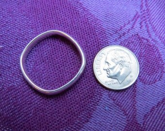 Finger Shape, Comfort Fit Heavy Sterling Band Ring, Size 11
