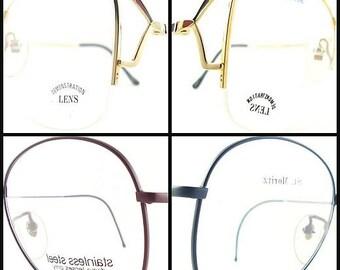Lot Of 4 Vintage St Moritz Eye Glasses Eyeglasses Sunglasses Frame Eyewear