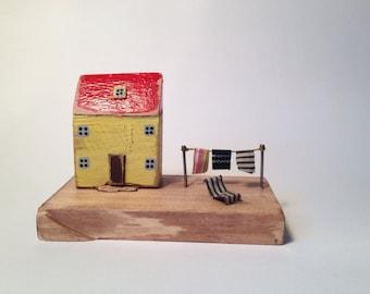 Little wooden house, Driftwood house, gift, original home decor, driftwood ornament, wedding present