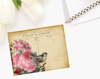 French Post Card Note Cards