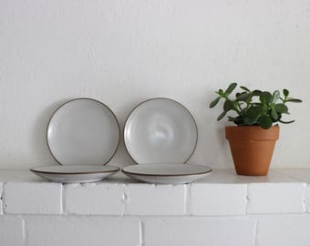 Vintage Heath Ceramics Plates Opaque White // Small Bread and Butter Plate // Edith Heath Pottery