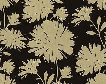 Designer Pillow Cover - 16 x 16, 18 x 18, 20 x 20, 22 x 22, 24 x 24 - KS Kravet Daisyfield - Black