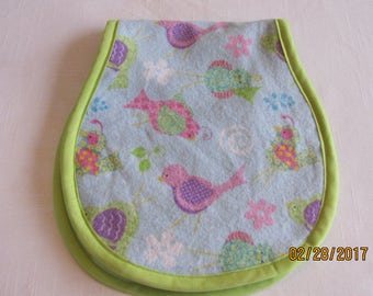 Birdie Flannel Burp Cloth