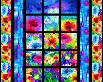 Ambrosia Day & Night Window Quilt Kit with Pattern - Kit is for the NIGHT VERSION- - From The Ambrisia Line from Timeless Treasures