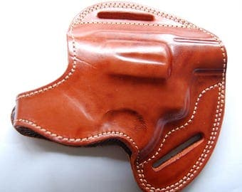 EAA Windicator 38 special Handcrafted Leather Custom Holster Tan Black