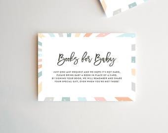Book Request Card, Please Bring A Book Instead Of A Card, Book Request Baby Shower, Book Request, Baby Shower Book Request, Gender Neutral