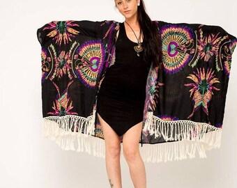 Lace Kimono- Long Sleeve Kimono- Kimono- Coachella- Beach Cover up