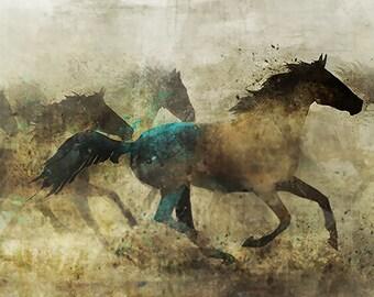 HORSE MARCH 02: Giclee Fine Art Print 13X19