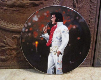 Vintage 'Elvis Presley', 'Aloha from Hawaii', porcelain collector plate by Delphi!
