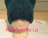 RESERVED FOR LIZ - Pussy Hat, Women's March, March on Washington, Knit Hat, Ready to Ship