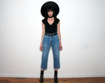 FADED Vintage LEE Jeans HIGH Waist Straight Leg 90s Grunge Size 31