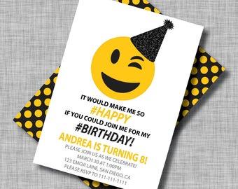 Emoji Invitations, Emoji Party, Emoji Birthday Invitations, Emoji Birthday, Emoji Birthday Party, Emoji Party Invitations, Emoji Birthday