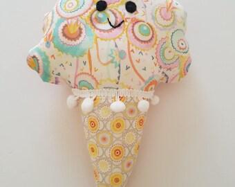 Happy Ice-Cream Plush Toy/Decor/Cushion!