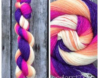 Hand Dyed Yarn, Gradient Yarn, Sock Yarn, Fingering Weight Yarn, 580 yards, Bright