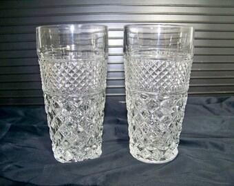 Vintage Anchor Hocking Ice Tea Glasses Wexford