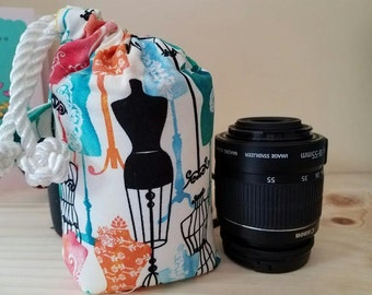 DSLR Camera lens padded Pouch Protector- FASHION-S M L XL