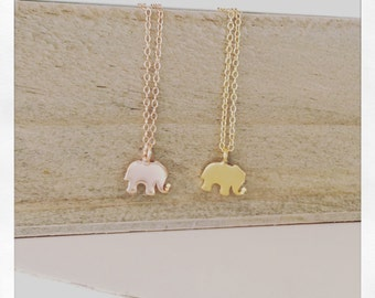 Elephant necklace, Dainty Gold Necklace, Gold elephant Necklace, Delicate Gold Necklace, Birthday Gift, Best selling item, Best Friend Gift